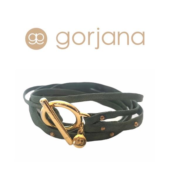Gorjana Green Leather wrap bracelet